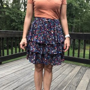 J.Crew Tiered Skirt with Star Print